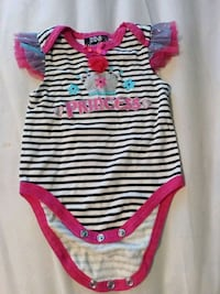 baby's white and red stripe onesie Easley, 29642