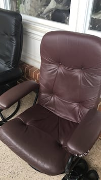 brown leather office rolling armchair Sterling, 20164