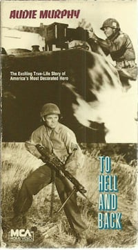 To Hell and Back (VHS, 1955) Audie Murphy, Marshall Thompson, WWII  (ref # bib/eb/apps/et) Newmarket