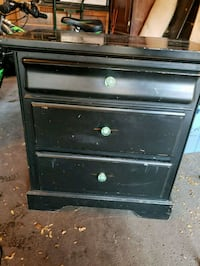 black wooden 3-drawer chest Brampton, L6S 2E4