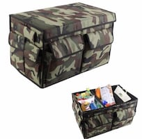 New Multi Compartments Trunk Organizer, Collapsible Cargo Container