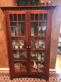 brown wooden framed glass display cabinet Columbia, 21044