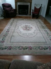 white and brown floral area rug Bentonia, 39040