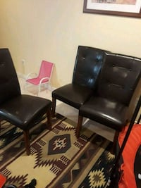 black leather padded rolling armchair Gainesville, 20155