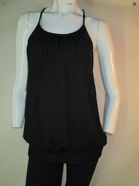 Lululemon size 8 No Limits Tank Luon yoga loose fit black
