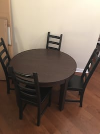 IKEA wooden dining table and chairs Washington, 20037