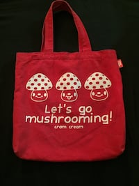 Let's go mushrooming! Tote by Cram Cream red and white Philadelphia, 19120