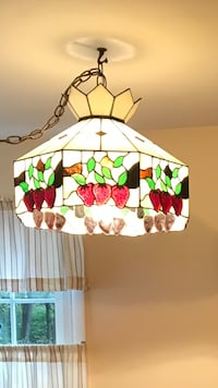 white, green, and red floral pendant lamp Whitesboro, 13492