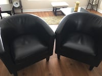 Black single seat couch  Toronto, M9W 5X9