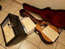 Simon and Patrick Electric Acoustic Guitar with Amplifier