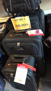 "Very large suitcases 31""28""21.5"" Luggage 3 piece black or blue Montréal, H2G"