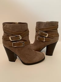 Just Fab Suede Ankle Boots-size 6