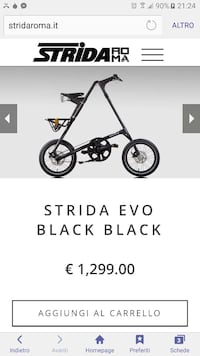 strida evo nero nero chopper bicicletta Firenze, 50123
