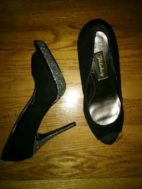 pair of black suede heeled shoes Rockville, 20852
