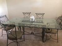 Rectangular glass top dining table with six chairs El Paso, 79912