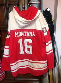 Red and white san francisco 49ers football hoodie 545 km