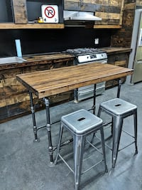 Reclaimed Bowling Alley Kitchen Island Toronto, M6N 1A6