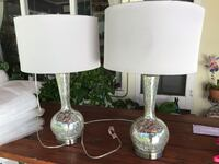 Two white-and-gray table lamps Riverside, 92506