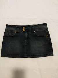 Black denim mini-skirt size small