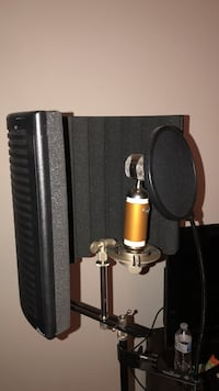 studio microphone + soundcard + accessories