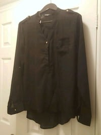 BNWT  Black Blouse with Gold Buttons  Mississauga, L4Z