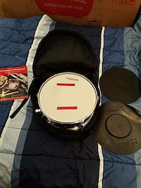 Thunder snare drum and case.  Thurmont, 21788
