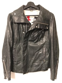 Diesel women's black leather biker style jacket sz M