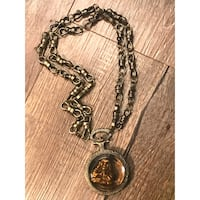 silver-colored chain necklace with round pendant Indianapolis, 46226
