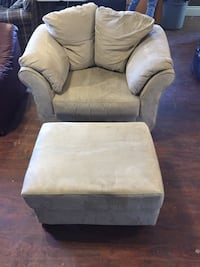 gray suede sofa chair with ottoman Mississauga, L5M 4M1