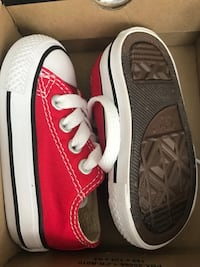 Pair of red-and-white converse  Charlotte, 28213