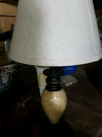white and black table lamp 311 mi