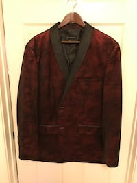 Red flecked crushed velvet dinner jacket size XL slim Alexandria, 22315