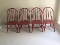 four brown wooden windsor chairs Dallas, 75229