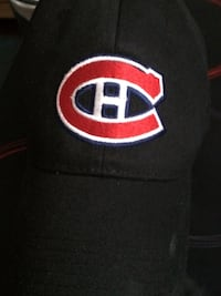 Black, red, and blue C embroided cap