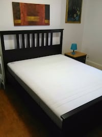 Ikea Queen Size Frame and Mattress (3) Toronto, M6G 1W4