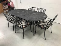 round black metal table with four chairs Fairfax, 22031