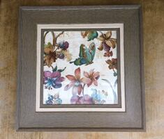 "Gorgeous Large Kirkland's Butterflies & Flower 29"" X 29"" Framed Picture (retail $79.99)"