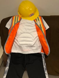 Size 3 toddlers construction costume toddlers