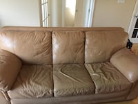 Brown leather sofa set Laval, H7G 3W4