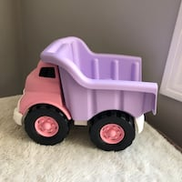 Green Toys Pink Construction Dump Truck BPA Free Made in USA Beach