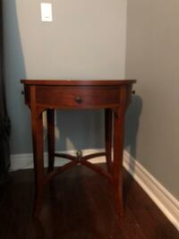 Decorative wood side table  Vaughan, L6A