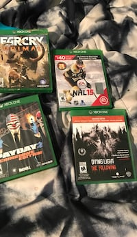 four Xbox One game cases Brantford, N3S