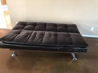 black leather tufted ottoman bed Garden Grove, 92840