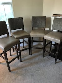 Set of 4 heavy durable padded wood barstools Arlington, 22206