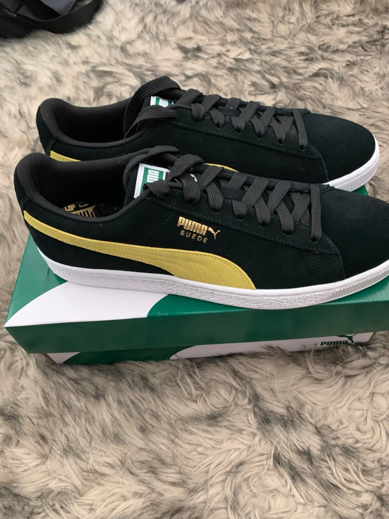 Puma suede classic green and yellow