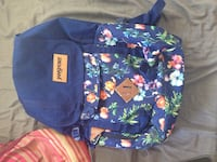 Blue and green floral backpack Essex