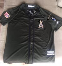 Military Tribute Mike Trout Angels Baseball Jersey Fullerton, 92831