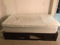 Memory foam mattress and memory foam mattress pad with back wooden box frame Long Beach, 90808