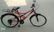 red Weapon full suspension bike