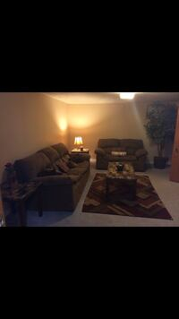 2 end tables,coffee table ,rug couch and love seat and plant  Louisville, 40229